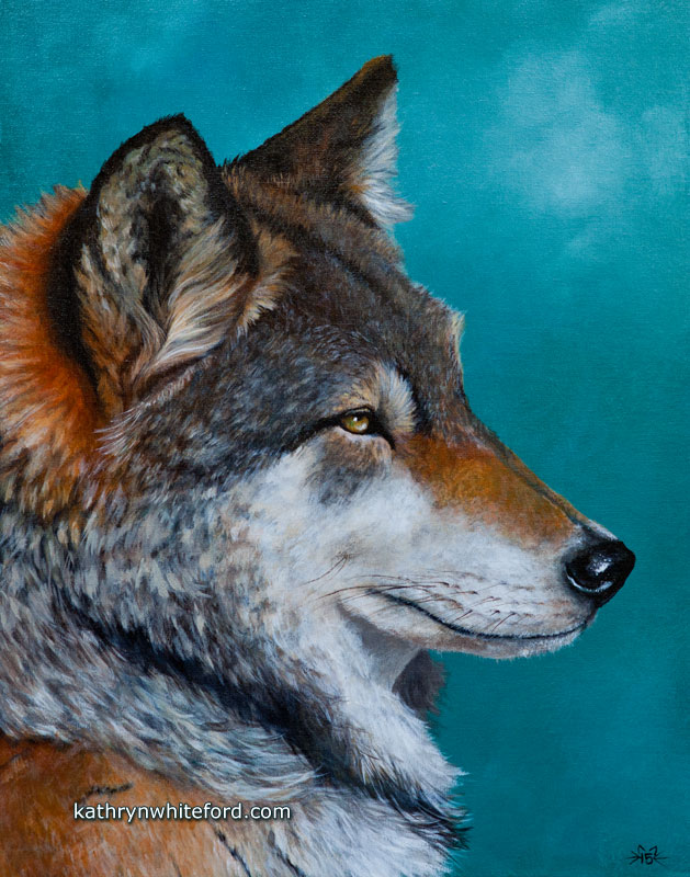 The Wolf Acrylic Painting Kathryn
