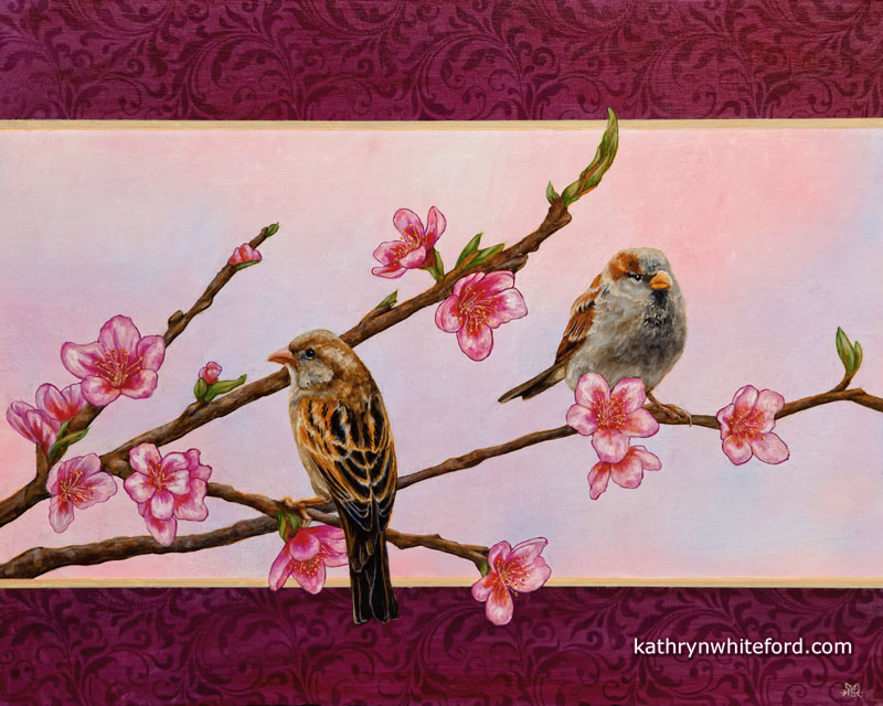 Acrylic Bird Painting and Video