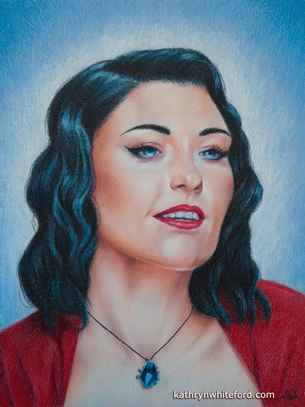 Luminance & Polychromos Colour Pencil Portrait: Glamourous. (2016)