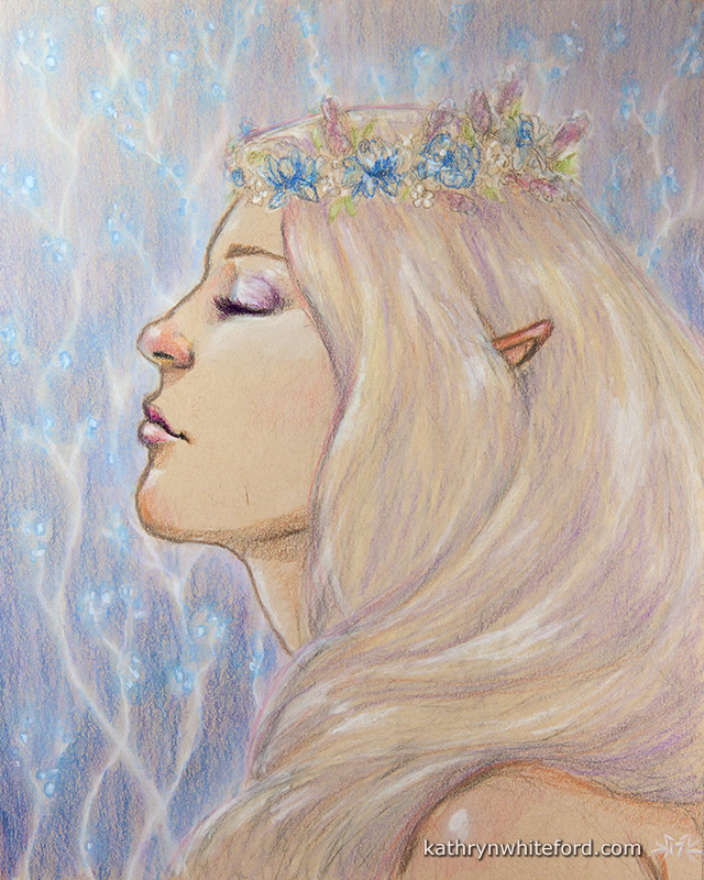 Sketchbook - Elf with Flower Crown