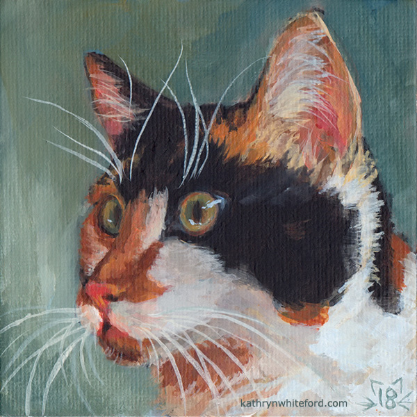 Cat Portrait in Acrylics Using a Limited Palette