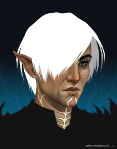 """Dragon Age 2 - Fenris"" Digital painting"